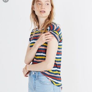Striped Rainbow Madewell Tee